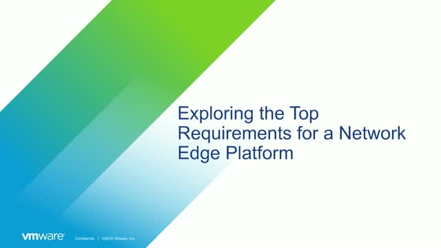 Exploring the Top Requirements for a Network Edge Platform