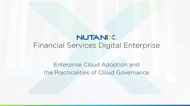 Cloud Adoption and the Practicalities of Cloud Governance in Financial Services