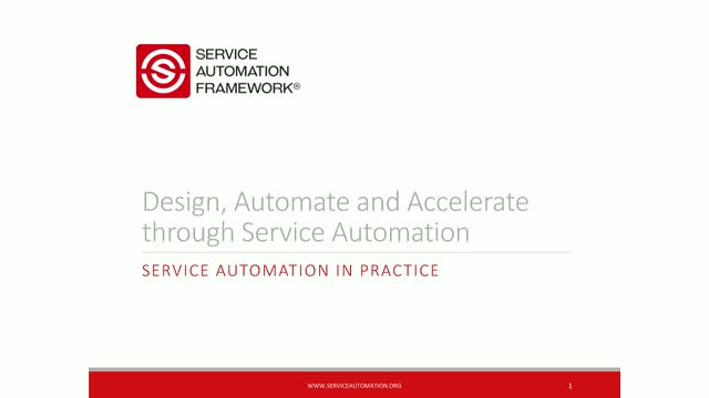 Design, Automate and Accelerate through Service Automation