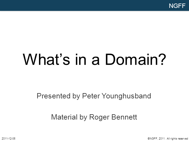 What's in a Domain?