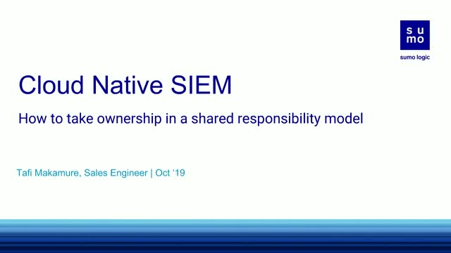 Cloud Native SIEM: How to take ownership in a shared responsibility model