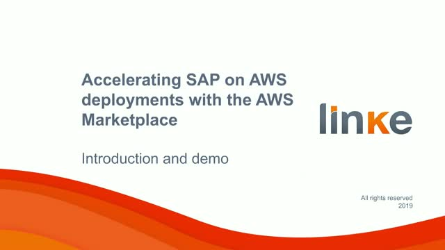 How to accelerate SAP deployments on AWS cloud marketplace