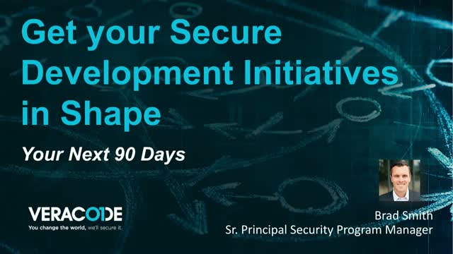 Get Your Secure Development Initiatives in Shape