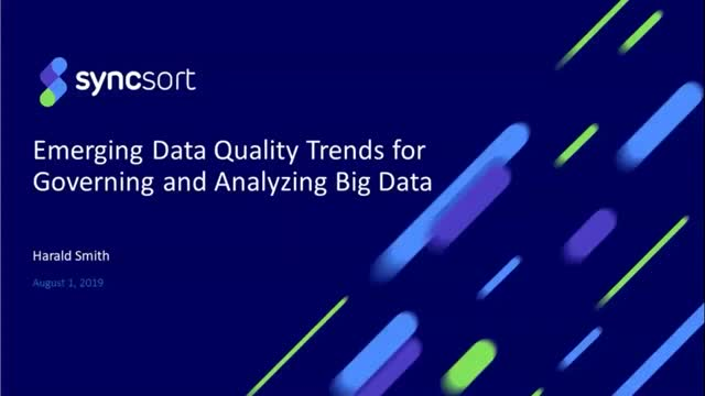 Emerging Data Quality Trends for Governing and Analyzing Big Data