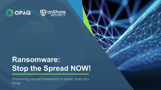 Ransomware: Stop the Spread NOW! (live)