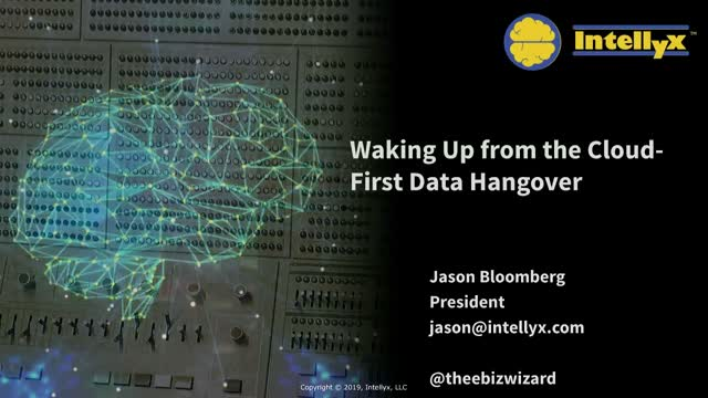 Waking Up from the Cloud-First Data Storage Hangover