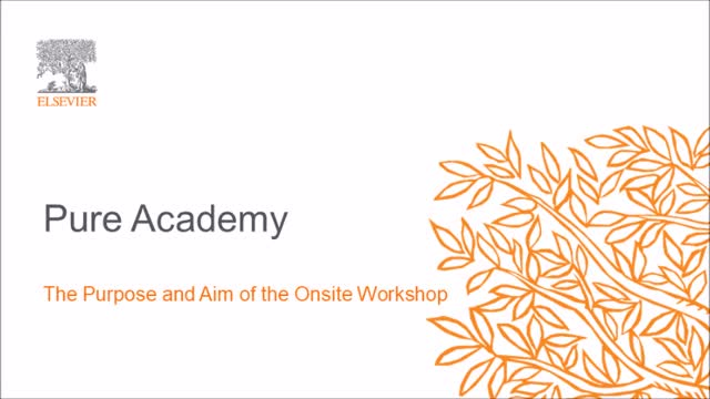 The Purpose and Aim of the Onsite Workshop