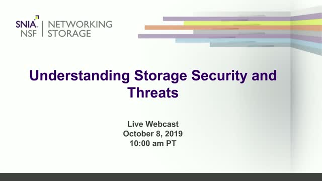 Understanding Storage Security and Threats