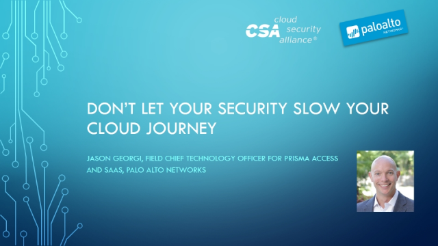 Don't Let Your Security Slow Your Cloud Journey
