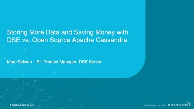 Storing More Data and Saving Money with DSE vs. Open Source Cassandra