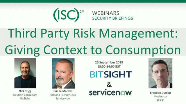 Third Party Risk Management: Giving Context to Consumption