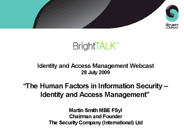 The Human Factors in Information Security
