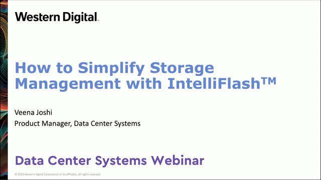 How to Simplify Storage Management with IntelliFlash