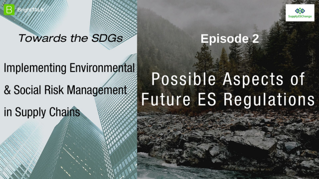 Towards the SDGs: Possible Aspects of Future Regulations