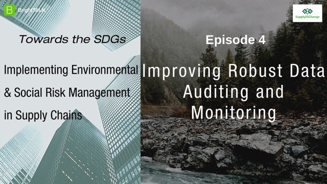 Towards the SDGs: Improving Robust Data Auditing and Monitoring