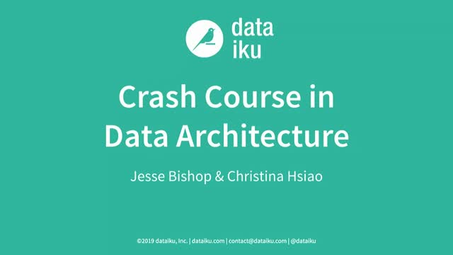 Crash Course in Data Architecture