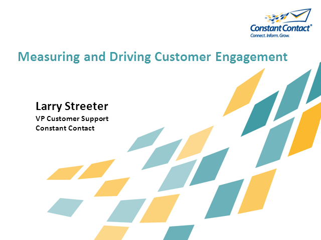 Best Practices on Measuring and Driving Customer Engagement