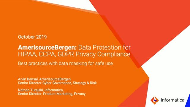 AmerisourceBergen: Data Protection for HIPAA, CCPA, GDPR Privacy Compliance