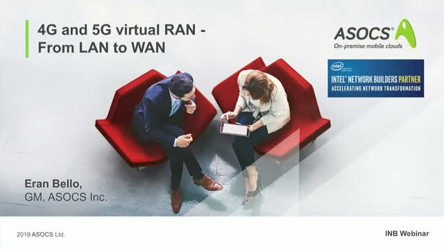 4G and 5G virtual RAN, from LAN to WAN