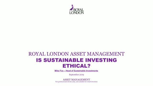 Is sustainable investing ethical?