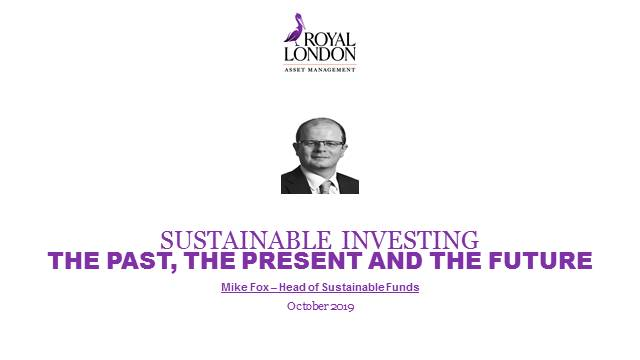 Sustainable investing – the past, the present and the future