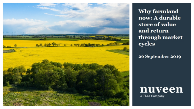 Why farmland now: A durable store of value and return through market cycles
