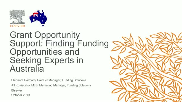 Grant Opportunity Support: Finding Opportunities & Seeking Experts in Australia