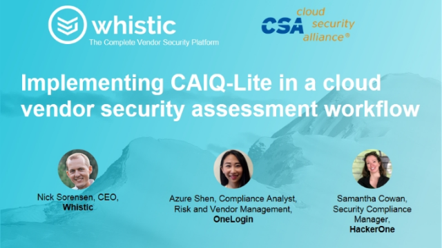 Implementing CAIQ-Lite in a Cloud Vendor Security Assessment Workflow