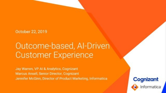 Outcome-based, AI-Driven Customer Experience