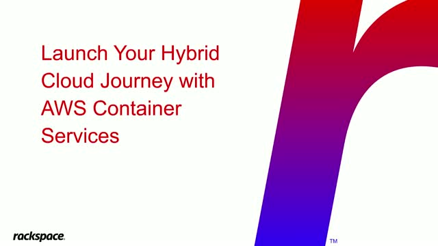 Launch Your Hybrid Cloud Journey with AWS Container Services