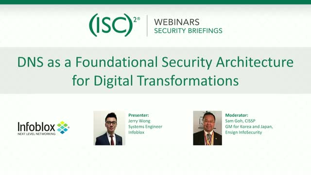 DNS as a Foundational Security Architecture for Digital Transformations