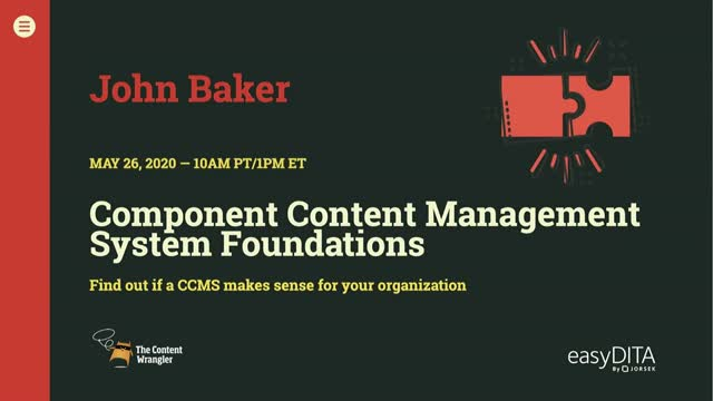Component Content Management System Foundations