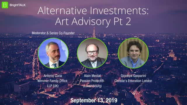 Alternative Investments: Art Advisory Pt 2