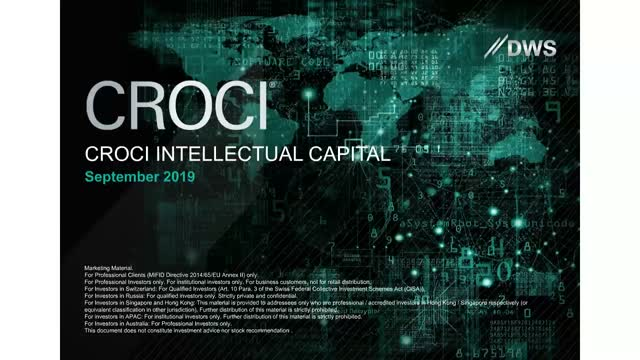 CROCI Intellectual Capital