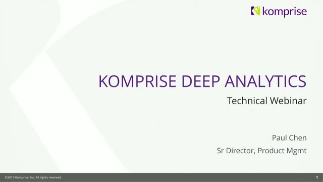 Komprise Deep Analytics: Discover the Value in Data