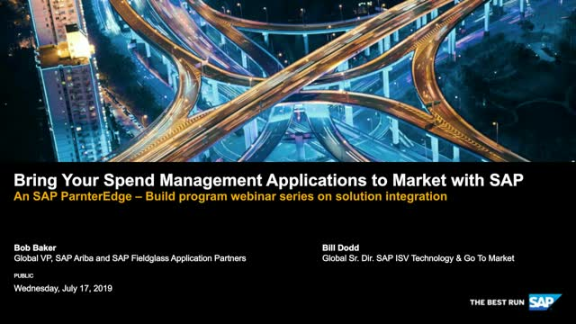Bring Your Spend Management Applications to Market with SAP