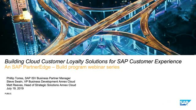 Building Cloud Customer Loyalty solutions for SAP Customer Experience