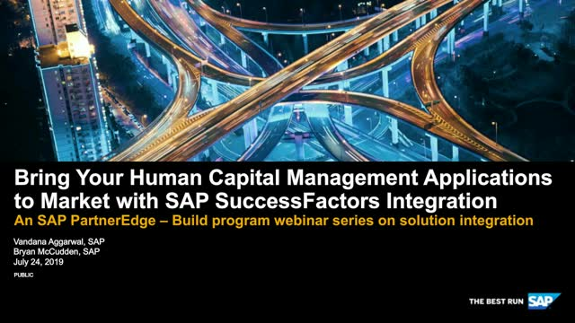 Bring Your Human Capital  Management Applications to Market with SAP