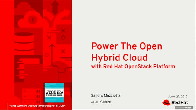 Power the open hybrid cloud with Red Hat OpenStack Platform