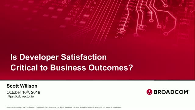 Is Developer Satisfaction Critical to Business Outcomes?