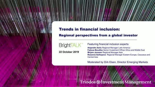 Trends in financial inclusion: Regional perspectives from a global investor