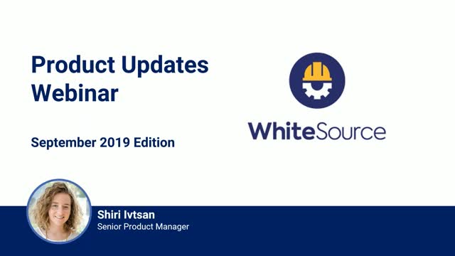 What's New With WhiteSource - September Update