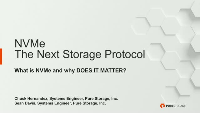NVMe: The Next Storage Protocol