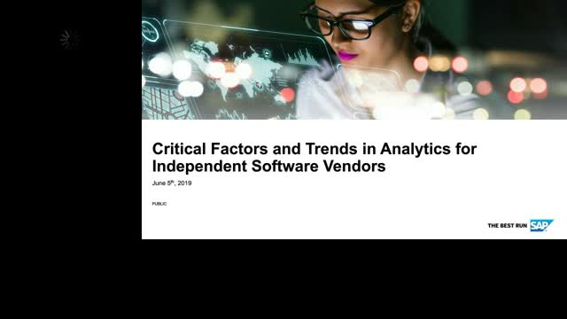 Critical Factors and Trends in Analytics for Independent Software Vendors