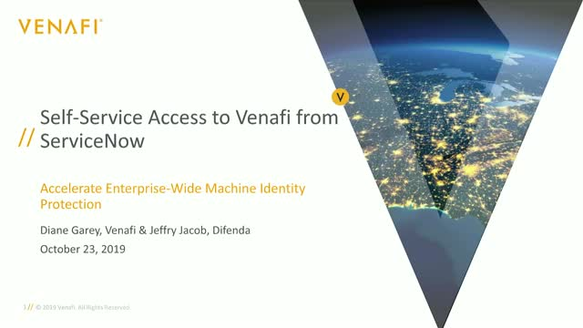 Stop the Insanity! Get Self-Service Access to Venafi from ServiceNow