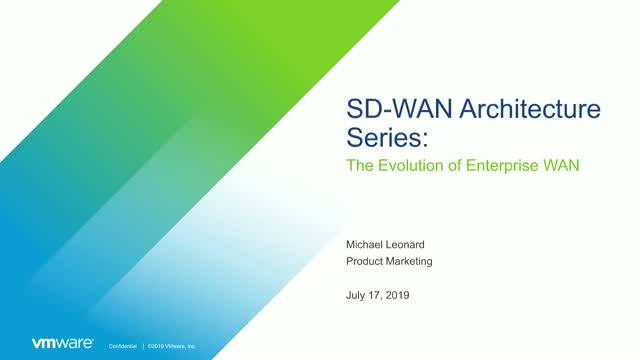 SD-WAN Architecture Series: The Evolution of the Enterprise WAN