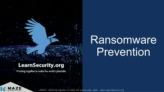 Ransomware Prevention Part 1