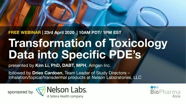 Transformation of Toxicology data into Specific PDE's