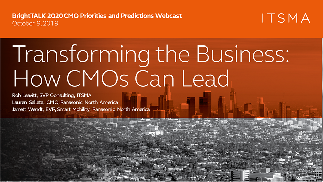 Transforming the Business: How CMOs Can Lead