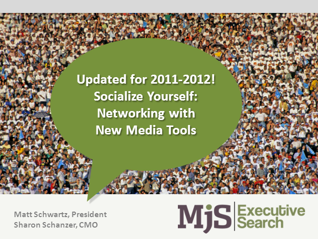 UPDATED for 2011-2012! Socialize Yourself: Networking with New Media Tools